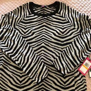 Vince Camuto zebra striped sweater